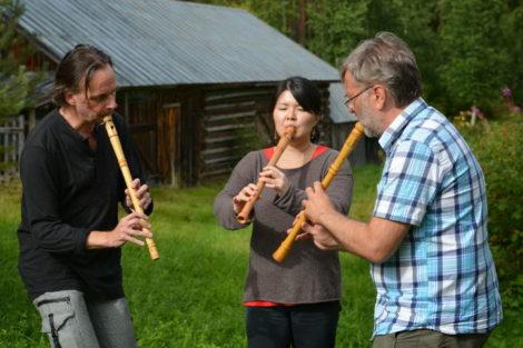 Göran Månsson, Yuko Oda och Dan Lundberg. Foto: Toru Fujishima